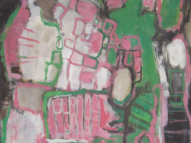 Abstract Painting by Dutch Artist Jacobus Bijtel In Excellent Condition For Sale In Charlevoix, MI