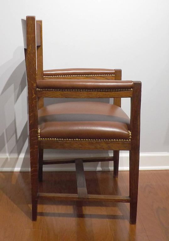 Dutch Arts & Crafts or Jugendstil Inlaid Armchair by Onder den Sint Maarten 5