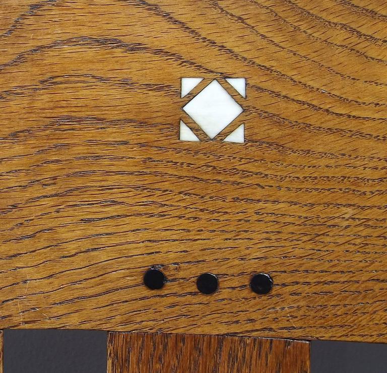 Dutch Arts & Crafts or Jugendstil Inlaid Armchair by Onder den Sint Maarten 6
