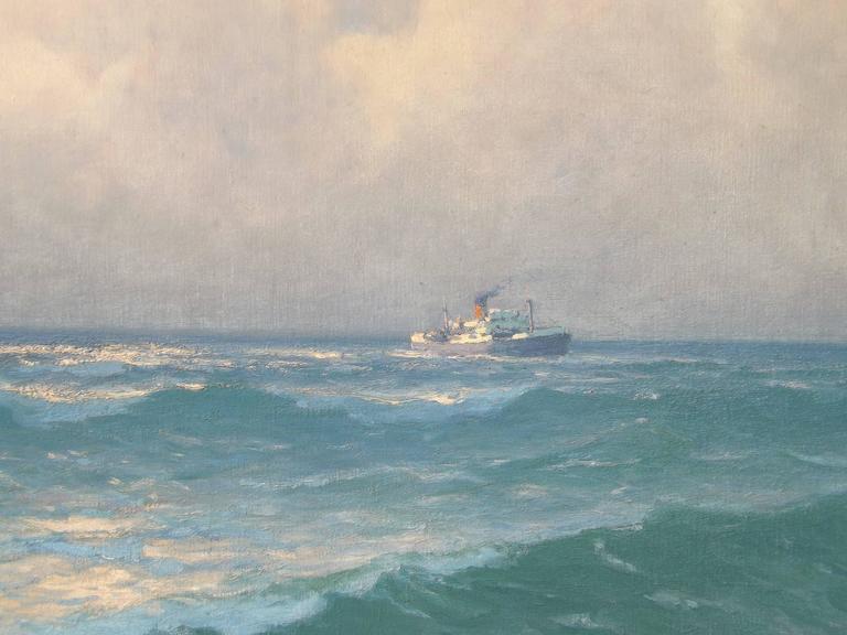 Dutch Freighters on the Open Ocean by Henk Dekker For Sale