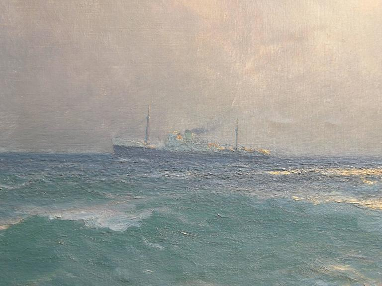 Freighters on the Open Ocean by Henk Dekker In Excellent Condition For Sale In Charlevoix, MI