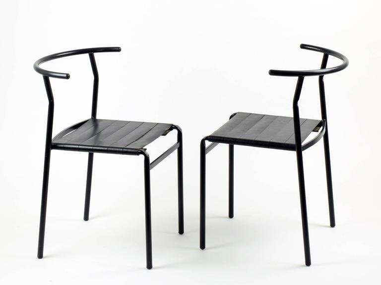 Philippe starck eight 39 caf chairs 39 for baleri italia 1984 caf cos - Cafe costes paris philippe starck ...
