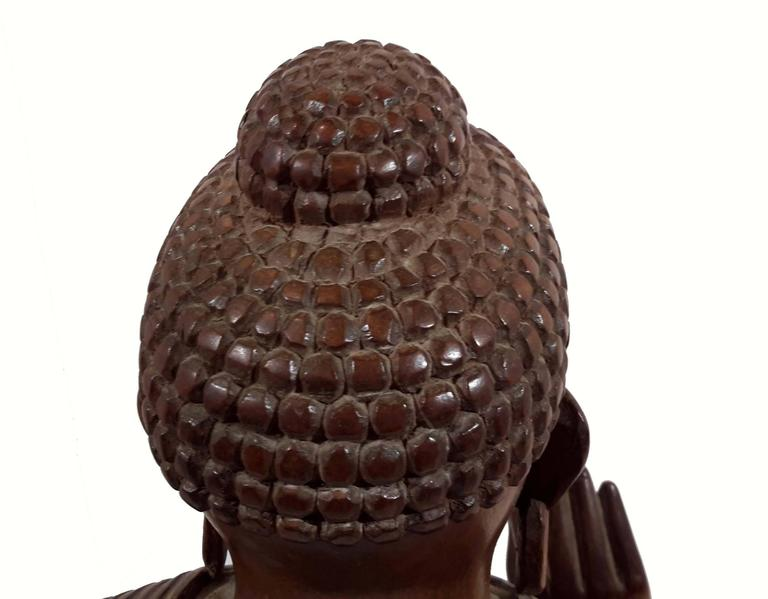Rosewood South East Asia ~ Carved rosewood buddha south east asia circa at stdibs