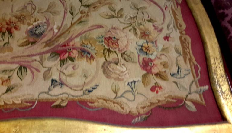 Pair of 19th Century French Aubusson Tapestry Panels Framed 5