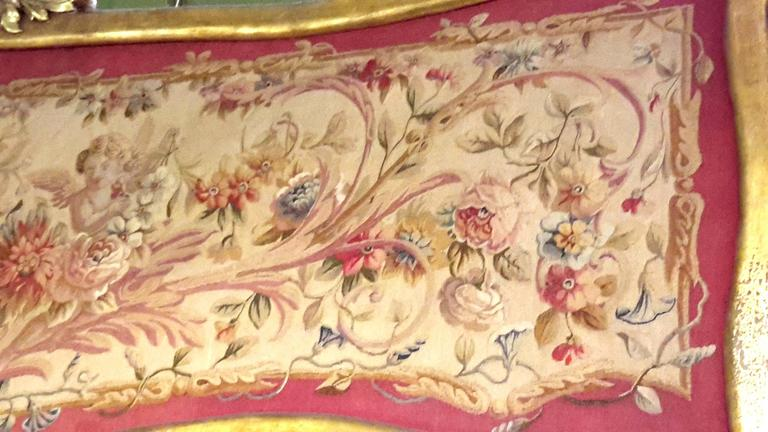 Pair of 19th Century French Aubusson Tapestry Panels Framed 7