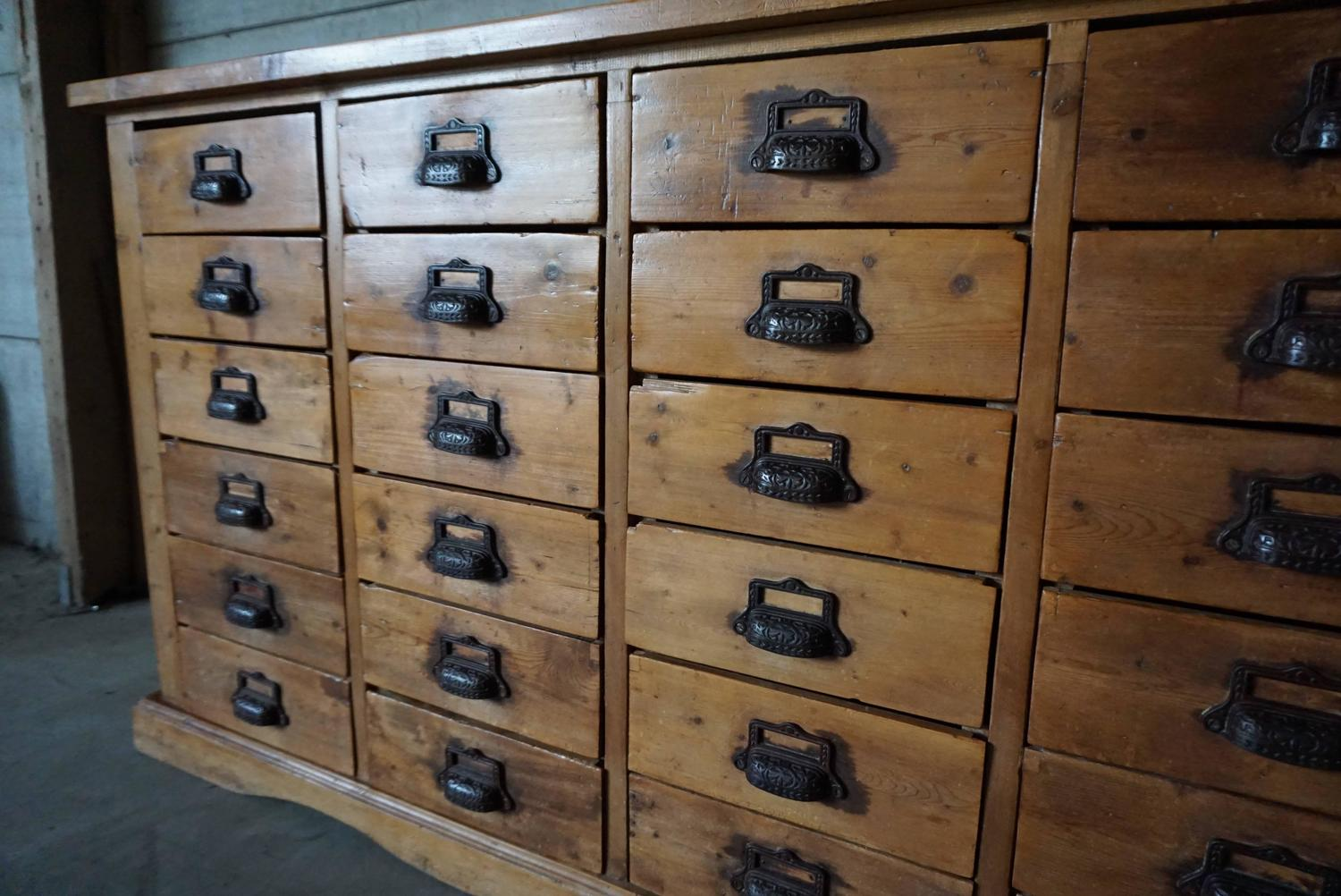 Antique Pine Apothecary Cabinet, 1900s at 1stdibs