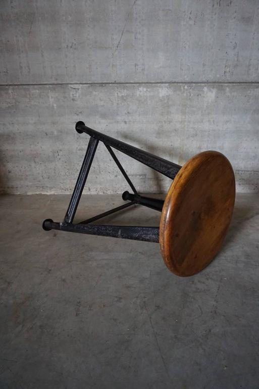 Vintage german industrial stool from rowac at 1stdibs for Furniture 08054
