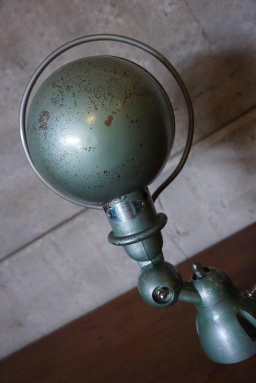 French Industrial Wall Lights : Green Industrial French Wall Light by Jean-Louis Domecq for Jielde, 1950s For Sale at 1stdibs