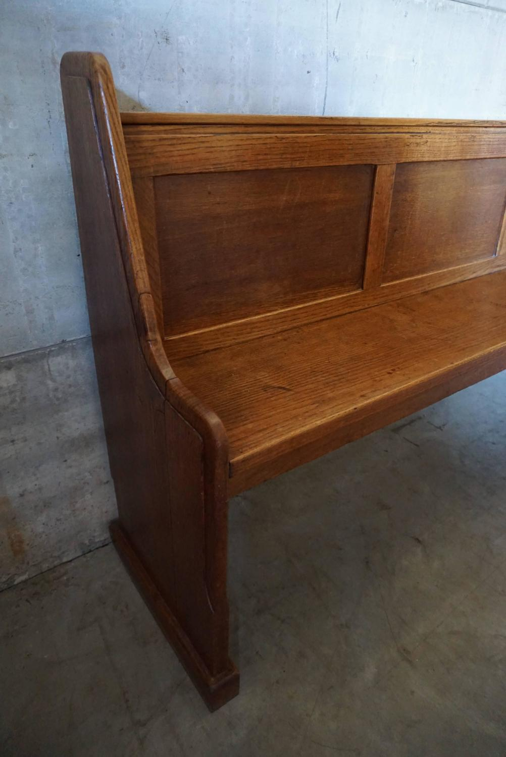 Oak Church Bench 1900 For Sale At 1stdibs
