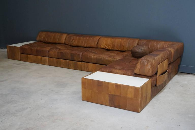 de sede wk 619 patchwork sofa six elements and two tables at 1stdibs. Black Bedroom Furniture Sets. Home Design Ideas