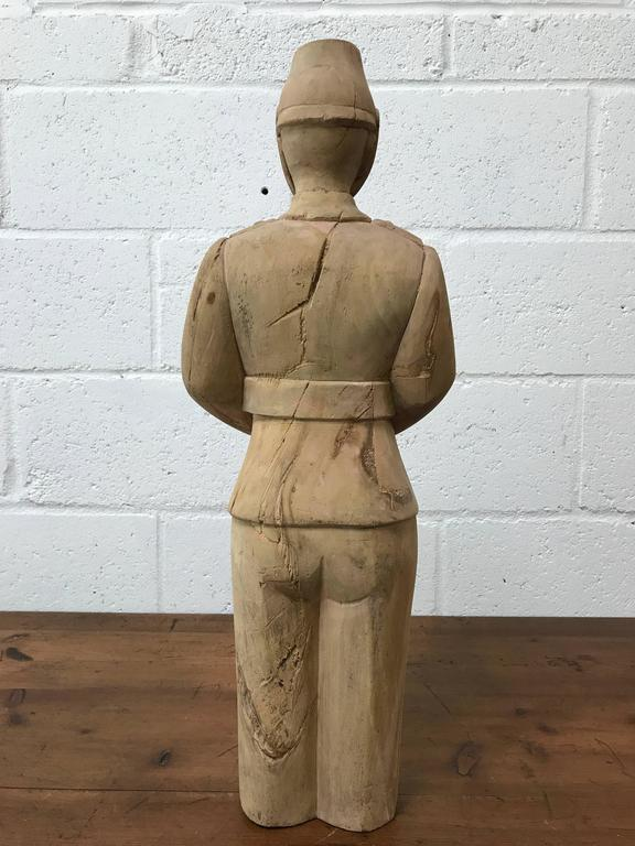 German carved wooden fairground fireman by hennecke s