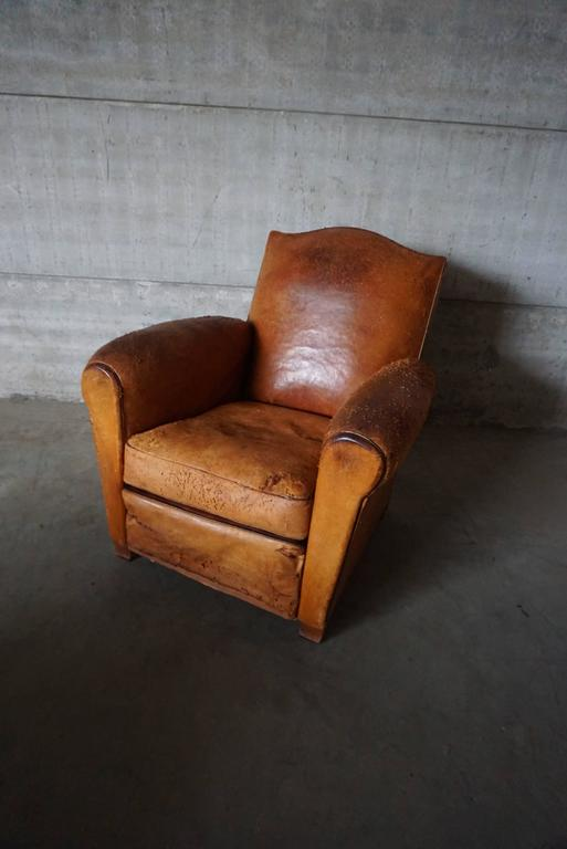 This Club Chair Was Designed And Produced In France During The 1930s. The  Chair Is