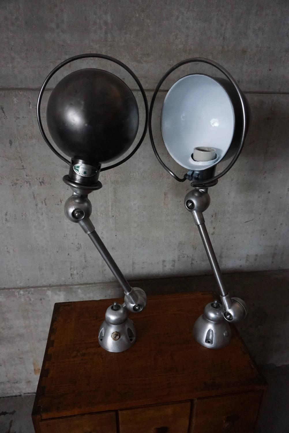 French Industrial Wall Lights : Pair of French Industrial Wall Lights / Scones by Jean-Louis Domecq for Jielde at 1stdibs
