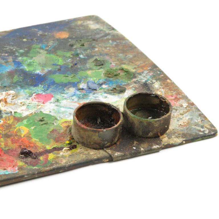 Antique French Artist's Painter's Wood Palette 4