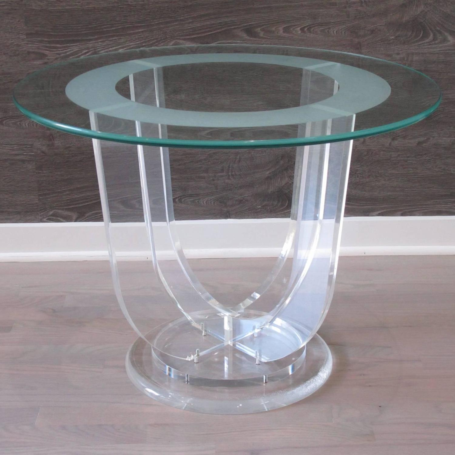 Mid century modern french lucite and glass coffee for 52 glass table top