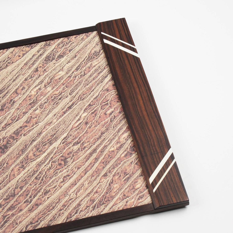 french art deco macassar desk set of blotter pad and. Black Bedroom Furniture Sets. Home Design Ideas