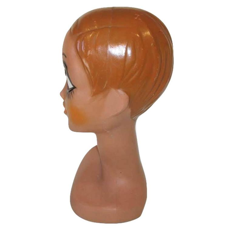 Iconic Mannequin Twiggy Model Head by Huard, France, 1971 Space Age Design 6