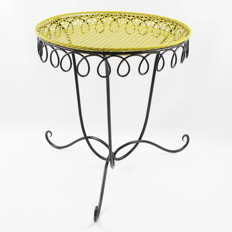 Mathieu Mat Got Perforated Metal Side Coffee Table Serving Tray Circa 1950s For Sale At 1stdibs