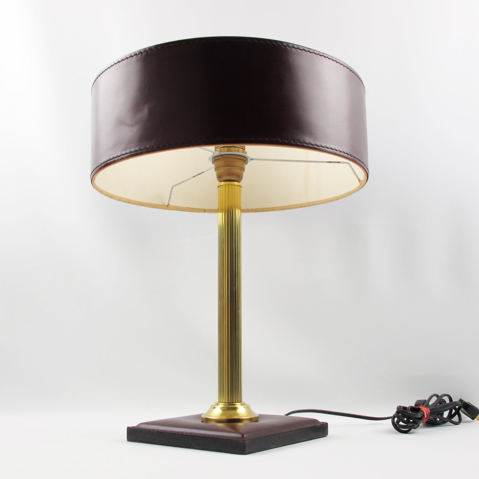 crafted shade painting andhra lamp hand shades from with leather pradesh pin
