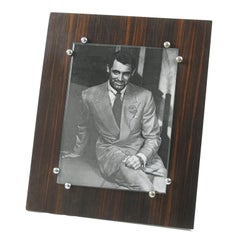 Albert Guenot for Pomone 1930s Art Deco Macassar and Chrome Picture Photo Frame