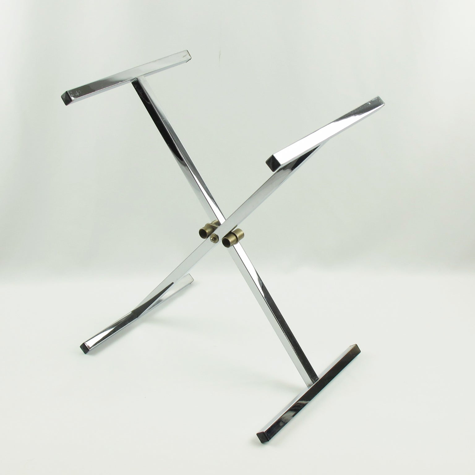 Mid Century Modern Folding Tray Table Tortoise Lucite And Chrome, Italy,