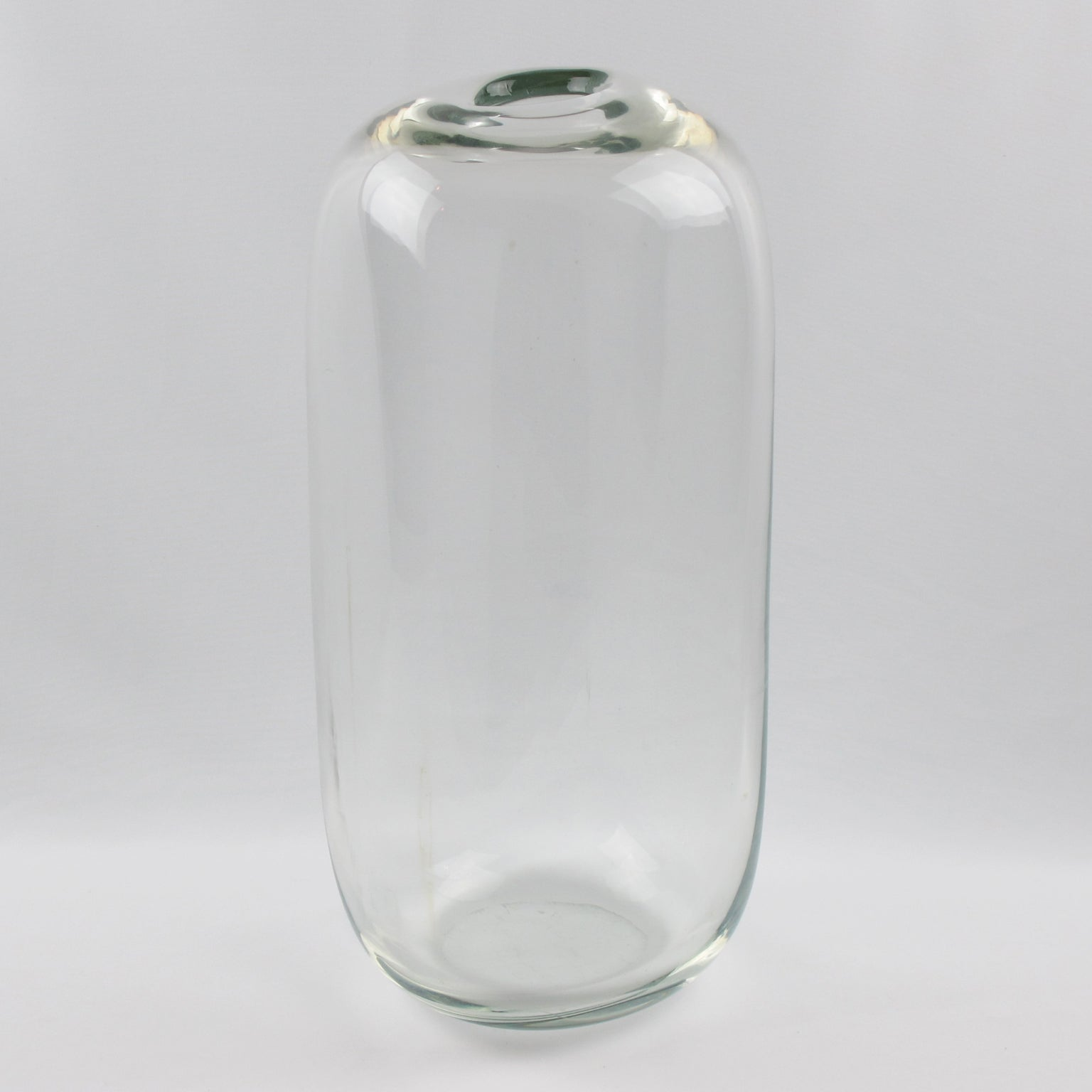 Alfredo Barbini 1970S Monumental Murano Italian Art Glass Vase For