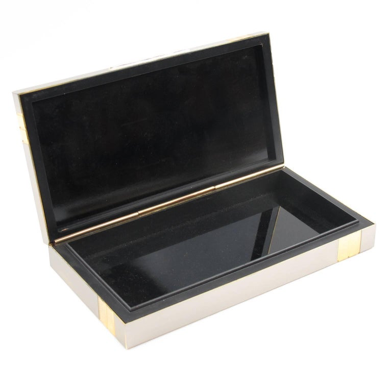 Mid Century Modern Metal Box And Contact Book Desk Set By