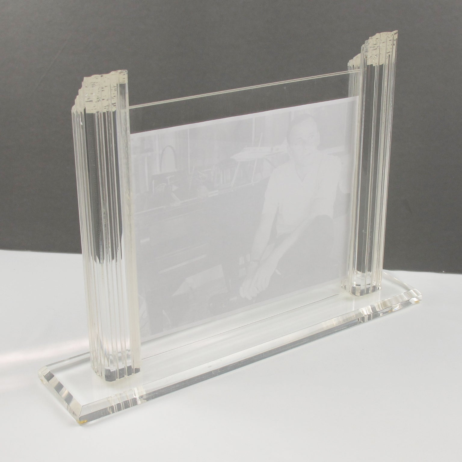 Oggi Design Italy Large Lucite Picture Photo Frame For Sale at 1stdibs