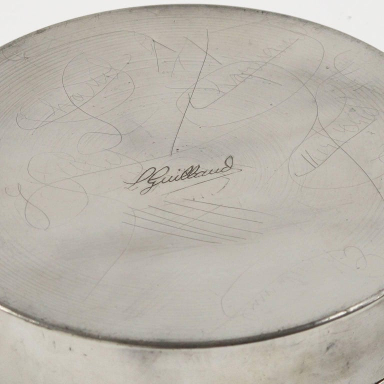 Art Deco Dinanderie Pewter Box by L. Guilbaud, France, circa 1930s 5