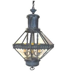 Highly Decorative Antique French Napoleon III Period Lantern, circa 1860