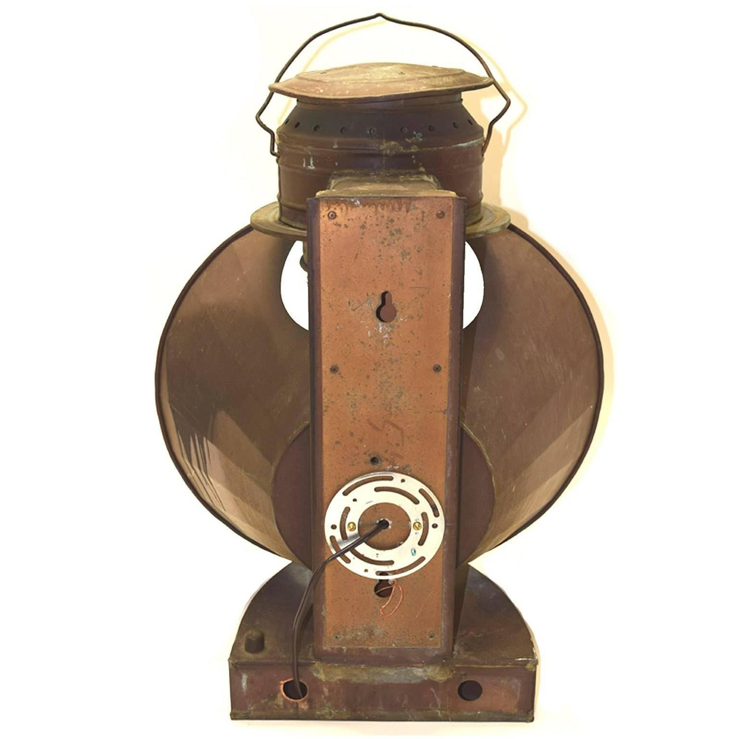 Ships Lantern Wall Lights : Pair of Antique American Solid Copper Ships Lanterns, circa 1890-1910 For Sale at 1stdibs