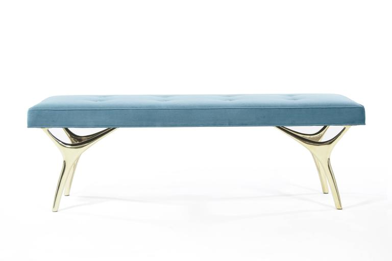 Crescent Bench in Brass 4