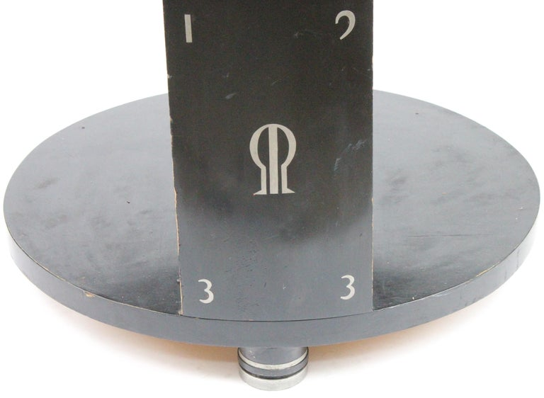 Mid-20th Century Alvar Andersson Table, 1933, Swedish, Black Painted with Pewter Inlays For Sale