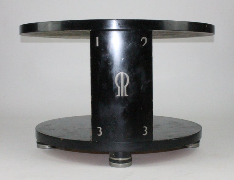 Alvar Andersson Table, 1933, Swedish, Black Painted with Pewter Inlays For Sale 8