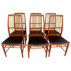 "Set of Six Mid-Century Modern Chairs ""Napoli"" by David Rosen"