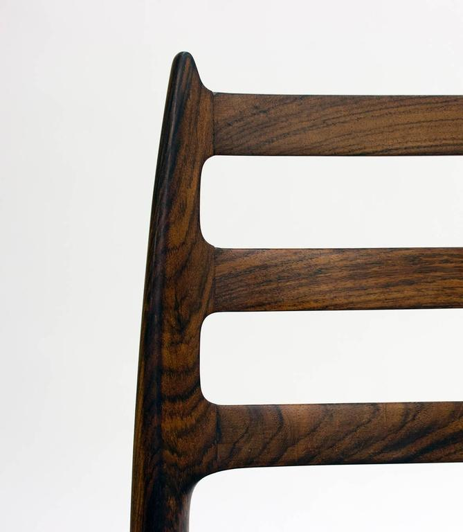 Set of Eight Model 78 Rosewood Chairs by Niels O. Møller, Designed 1962 For Sale 1