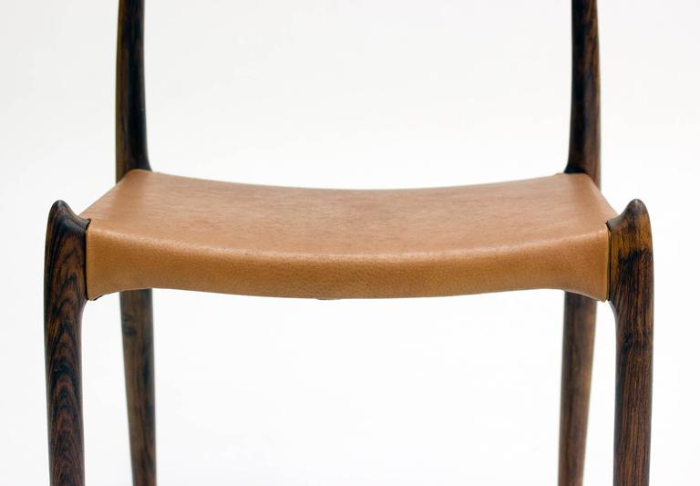 Set of Eight Model 78 Rosewood Chairs by Niels O. Møller, Designed 1962 For Sale 2