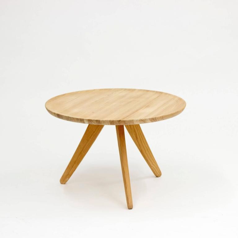 Gorgeous Pine Coffee Table Attributed To Carl Malmsten With Beautiful Details And Wood Grain