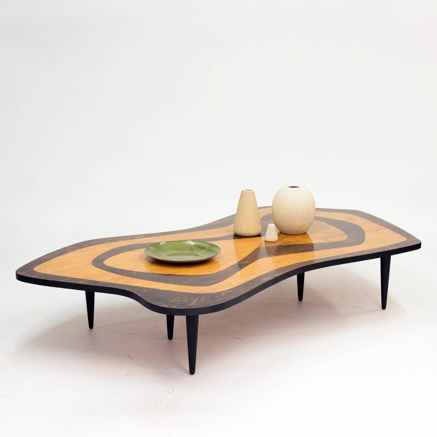 Oversized 1950s Intarsia Coffee Table For Sale At 1stdibs