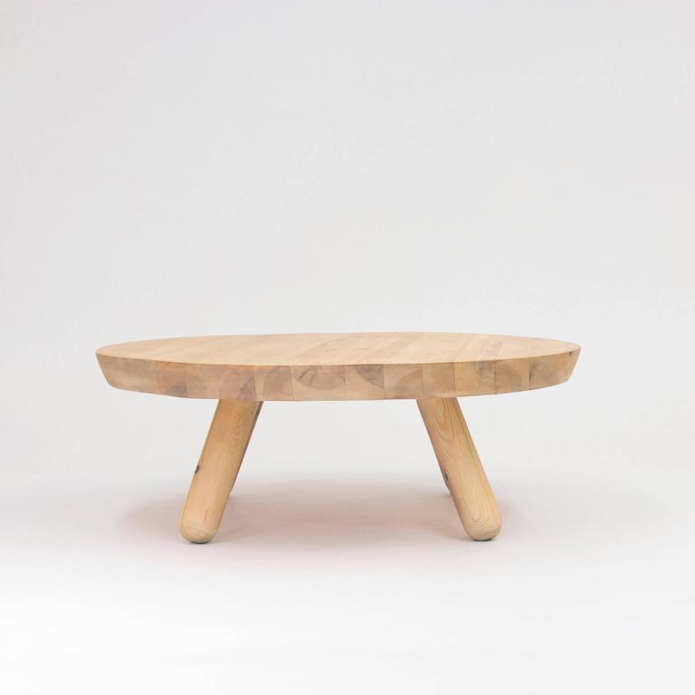Mid Century Modern Norwegian 1960s Pine Coffee Table For