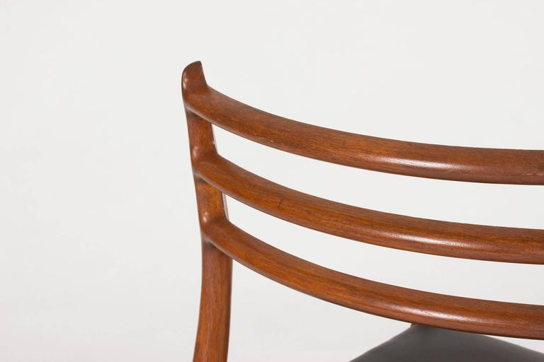 Mid-20th Century Set of Eight Teak Dining Chairs by Niels O. Møller For Sale