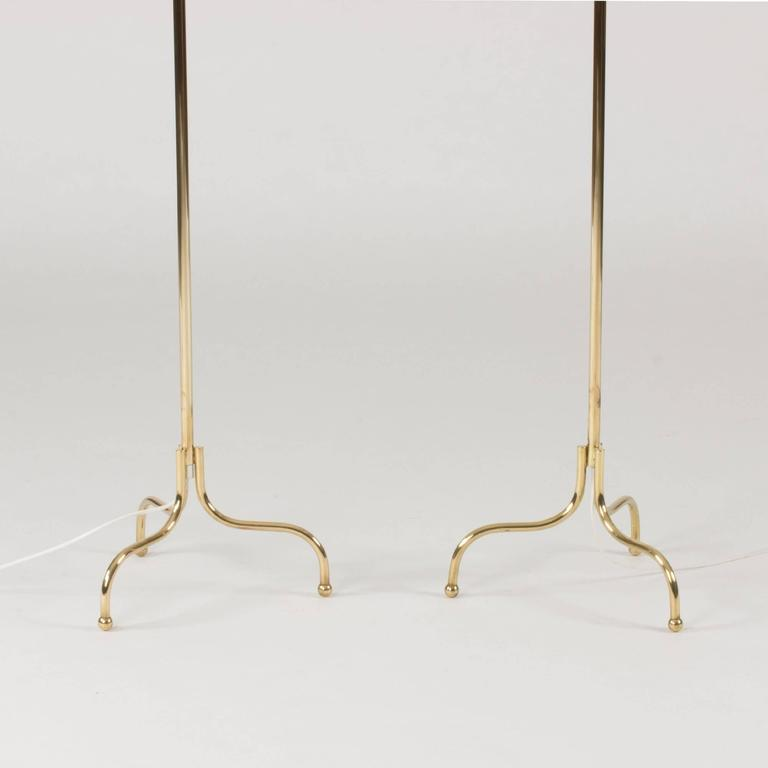 Pair of Brass Floor Lamps by Josef Frank 3