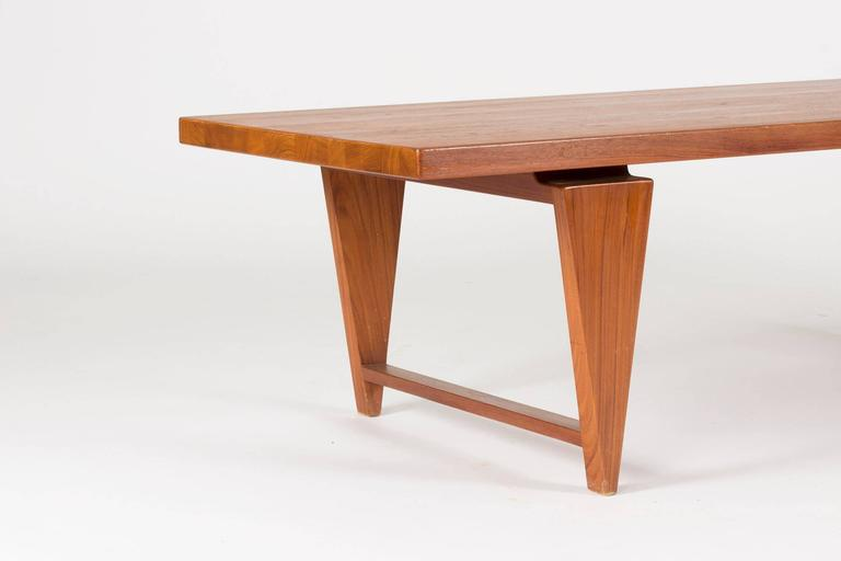 Danish Teak Coffee Table by Illum Wikkelsø For Sale