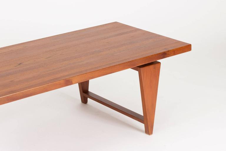 Scandinavian Modern Teak Coffee Table by Illum Wikkelsø For Sale