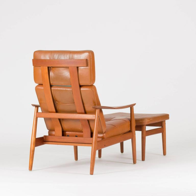 Scandinavian Modern Lounge Chair And Ottoman By Arne Vodder For Sale