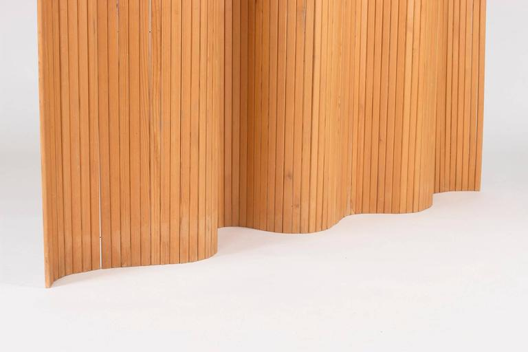 Pinewood Room Divider by Alvar Aalto In Excellent Condition For Sale In Stockholm, SE