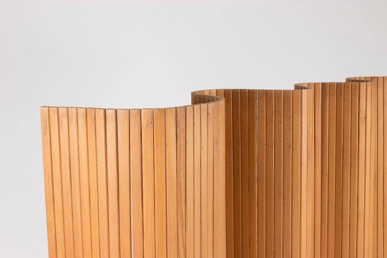 Finnish Pinewood Room Divider by Alvar Aalto For Sale