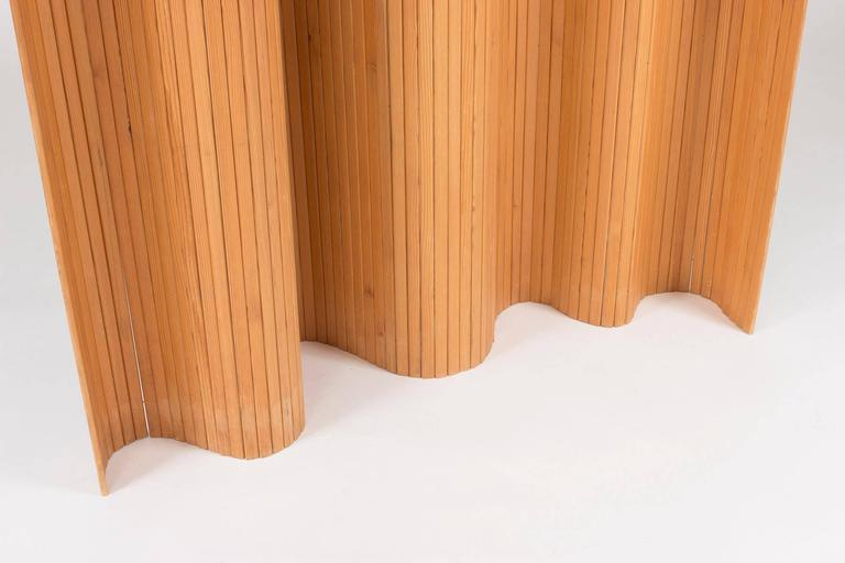 Mid-20th Century Pinewood Room Divider by Alvar Aalto For Sale