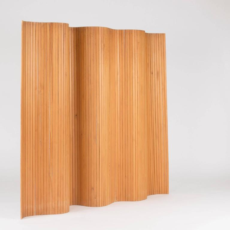 Mid-Century Modern Pinewood Room Divider by Alvar Aalto For Sale
