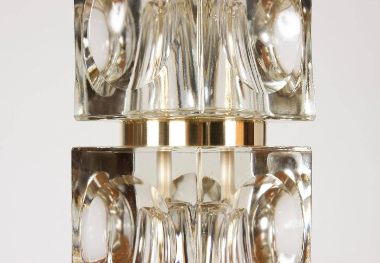 Mid-20th Century Swedish 1960s Crystal Table Lamp For Sale